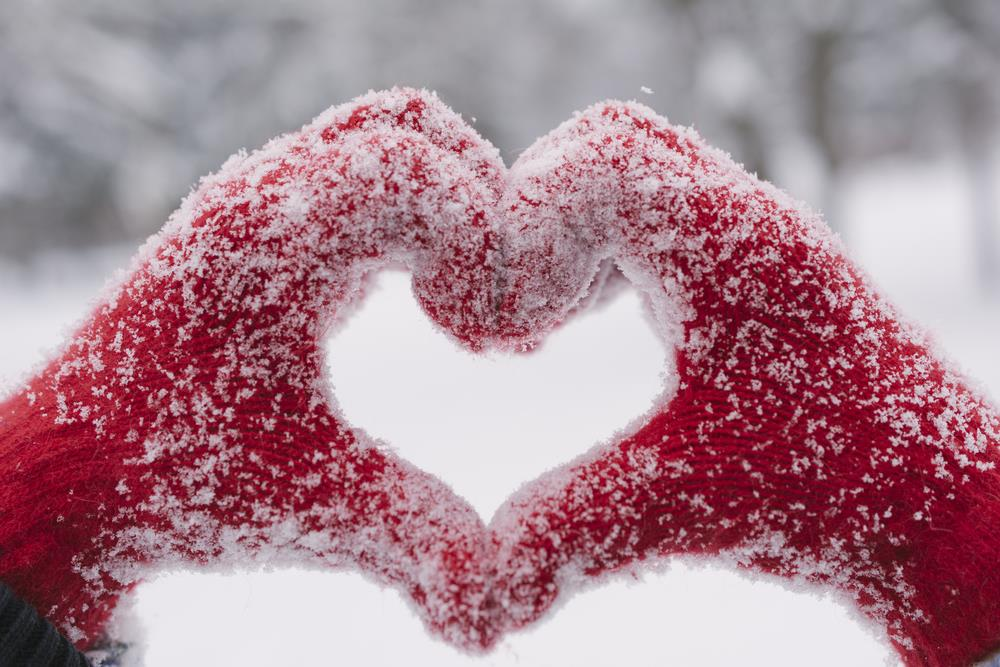 Happy Valentines Day Winter snow images